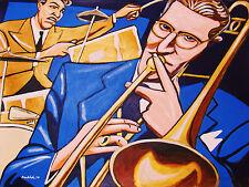 TOMMY DORSEY PRINT poster jazz trombone gene krupa drums big band orchestra cd