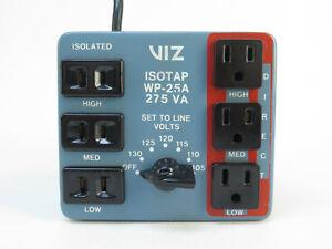 VIZ ISOTAP WP-25A - 275VA with outputs set at 105, 110, 115, 120, 125, 130 volts