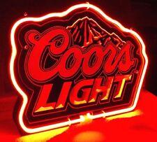 "CB347 Coors Light Beer Bar Pub night Display Neon Light Acrylic Sign 11""x8.5"""