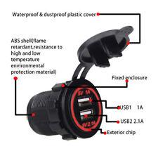Cigarette Lighter Socket Splitter Dual USB Port Car Charger Power Adaptor 12-24V