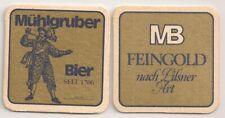 """""""Mühlgruber Bier"""" - historischer Bierdeckel aus Oberösterreich """"MB Feingold"""""""