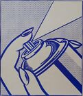 "Roy Lichtenstein ""Spray Can"" HD Print Oil Painting on Canvas Large Wall 36x24"""