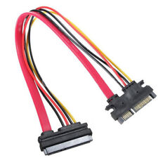 30cm 22 Pin 7+15 pin Male To Female SATA Data HDD Power Extension Cable Adapter