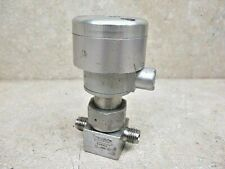 """Swagelok   air actuated  1/4""""  700 PSI  stainless   SS-4BK-1D  N.O."""