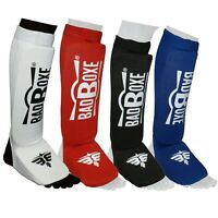 Karate Shin Protector cotton white with fastner closing