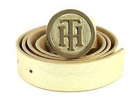 TOMMY HILFIGER TH Round Buckle 3.0 W95 Gürtel Accessoire Gold Gold Neu