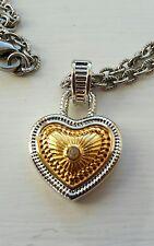"Diamonds International Heart Shaped Pendant 18"" Chain .02 Carat Diamond"
