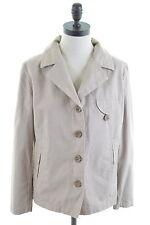 MURPHY & NYE Womens Blazer Jacket Size 16 Large Khaki Cotton