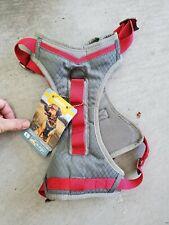 Kurgo Journey Dog Harness  Red and Grey Large with bonus Muck Collar