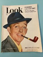Vintage LOOK Magazine January 17, 1950 Bing Crosby Pipe cover University Minn