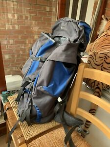 Hiking Walking Expedition Bag Backpack 65L Mountain Warehouse Tor Grey Blue