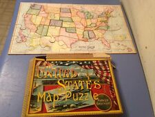 Antique 1915 Parker Brothers United States Map Puzzle