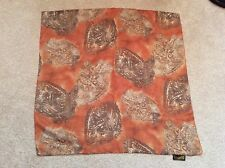 WOMENS FALL SCARVE MADE IN ITALY 29 X 29
