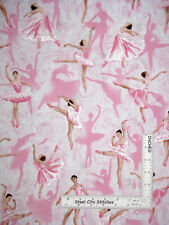 Ballet Theatre Ballerina Dancers Pink Pearl Accents Fabric Kanvas Studio By Yard