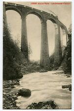 CPA Suisse Orientale Grisons Albula-Bahn Landwasser Viadukt Pont Train Viaduc