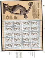 us scott # 3087 32c xf mnhog sheet of (20) stamps Olympic Discus Thrower 1987