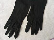 1900-1910 Vintage Suede Black Leather Debenham & Freebody Pair of Gloves 6 1/2