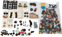 Craft Sewing Buttons Lot of Various Sizes Types Colors Vintage/new Free Shipping