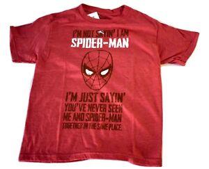 Youth Marvel I'm Not Saying I'm Spiderman, I'm Just...Shirt New S, M, XL
