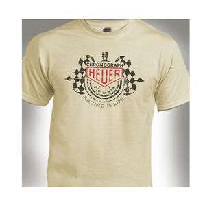 Racing Is Life Tag Heuer  Classic Distressed Print Natural T-ShirtÊ