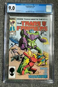 Marvel Transformers #10 CGC 9.0 1st Appearance Of The Constructicons Devastator