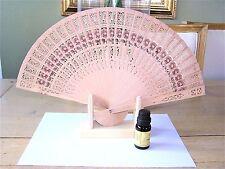 Eventail en Bois NEUF 34 x 20 cm mettre votre Huile Essentiel Folding fan
