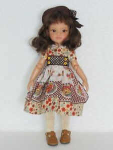 """RED BOOTS ~ for 13.5/"""" Paola Reina dolls~Corolle~Jolina~ 7 cm  3 /""""~ iCukla~#33"""