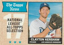 2017 TOPPS HERITAGE CLAYTON KERSHAW P DODGERS #374 NL ALL-TOPPS SELECTION SP