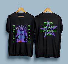 1996 Marilyn Manson Vintage Metal Rock Concert Tour T-shirt Regular Size S-3Xl