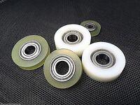 Polyurethane/Nylon Plastic Roller BEARINGS TRACK GUIDE WHEEL ALL SIZES UK SELLER