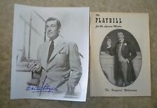 Walter Pidgeon Autographed signed photo plus playbill