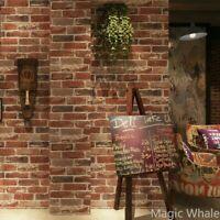 Wall Paper Sticker 3D Brick Stone Waterproof Modern Textured Wall Paper