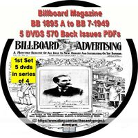 Billboard Magazine Vintage 5 DVDs 570 Back Issues Entertainment 1st in Series