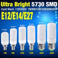 E14 E12 E27 LED LIGHTS CORN BULB ENERGY SAVING BRIGHT LAMP5730SMD 7-25W 110/220V