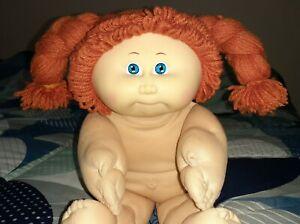 Vintage Cabbage Patch Kid ~ Girl Doll, Red Braids, Blue Eyes, Rosie Cheeks