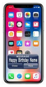 Iphone Personalised Edible Icing Cake Topper PRE CUT Black or White IPhone 10