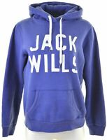 JACK WILLS Womens Hoodie Jumper UK 14 Medium Purple Cotton  GH04