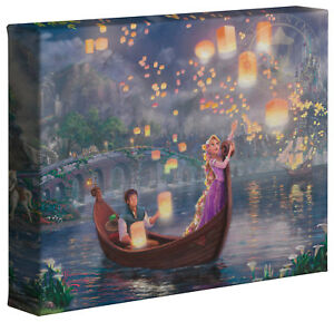 Thomas Kinkade Studios Tangled 8 x 10 Gallery Wrapped Canvas Rapunzel