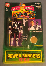 BanDai 1994 Mighty Morphin Power Rangers Zack Black Ranger Sealed - New On Card