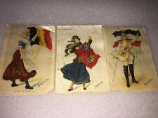 3 Vintage Zira Cigarettes Cigarette silk Belgium,Canada & Germany