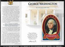 GEORGE WASHINGTON   WILLABEE & WARD U.S PRESIDENTIAL COLLECTION