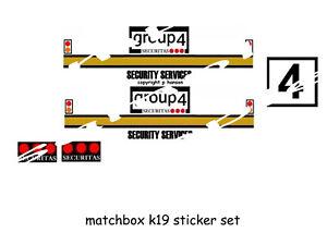 MATCHBOX K19 STICKER SET GROUP 4