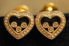 Chopard Yellow Gold Fine Diamond Earrings