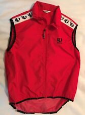 "PEARL IZUMI ""ZEPHRR"" Womens  Red Sleeveless Zip Up Vest-Size Med-EUC"