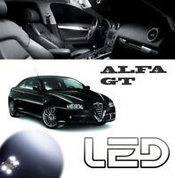 Alfa Romeo GT Kit 11 Ampoules Led Blanc Plaque Veilleuses Habitacle plafonnier