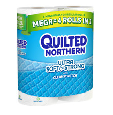 Quilted Northern Ultra Soft & Strong Toilet Paper, 6 Mega Rolls, 6= 24 Regular B