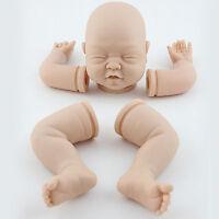 "Reborn Kits 22"" Sleeping Baby Doll Blank Soft Vinyl Head 3/4 Limbs Supplies Gift"