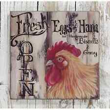 New Country Primitive Farmhouse FRESH EGGS HAM CHICKEN Picture Sign Wall Hanging