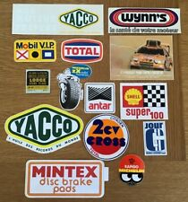 lot 14 autocollant voiture TOTAL SHELL LODGE RENAULT GORDINI WYNNS MOBIL ANTAR