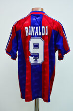 BARCELONA 1996/1997 MATCH WORN ISSUE FOOTBALL SHIRT JERSEY KAPPA RONALDO #9